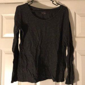 Dark gray long sleeve T-shirt